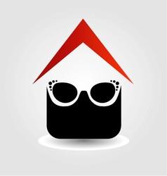 Logo for eyewear shop vector