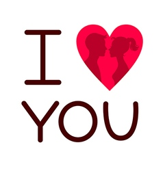 Love postcard vector image vector image