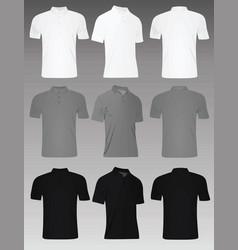 men polo t shirt set vector image vector image