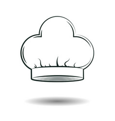 monochrome chef hat sign vector image vector image