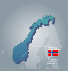 Norway information map vector