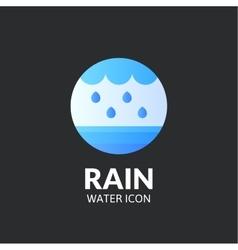 Rain logo template vector