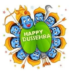 Ravana with ten heads for dussehra vector