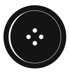 Round sewing button icon simple style vector