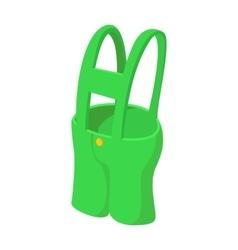 Short green pants cartoon icon vector