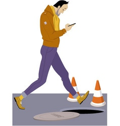 Smartphone addict vector image vector image