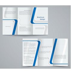 Three fold business brochure template corporate vector