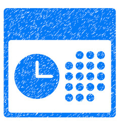 Time and date grunge icon vector