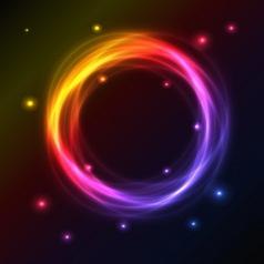 Plasma circle vector image