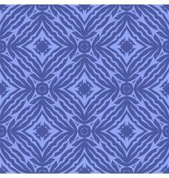 Blue Endless Texture Oriental Geometric Ornament vector image