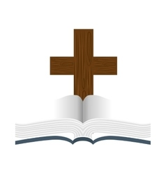 Sacred holy bible icon vector