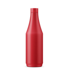 red ketchup template vector image