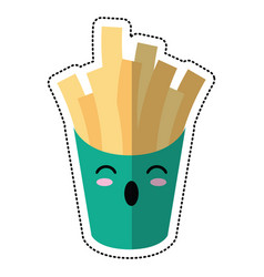 Cartoon french fries fast food vector