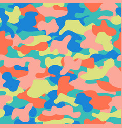 camouflage seamless pattern in a blue green pink vector image