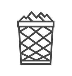 Trash can line icon vector