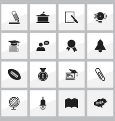 set of 16 editable science icons includes symbols vector image