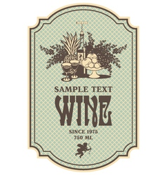 Baroque wine vector