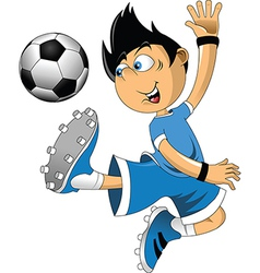 Soccer players cartoon vector