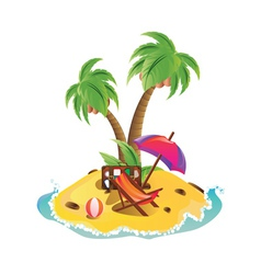 Mini Island vector image