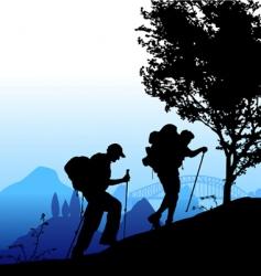 climbing vector image
