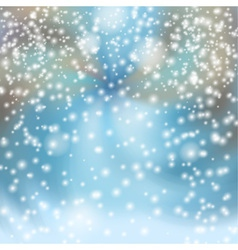 Snowfall in the city vector
