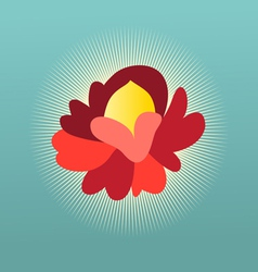 Beautiful flower sign vector