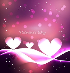 Valentine day background with wave effect vector