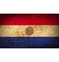 Flags paraguay with dirty paper texture vector