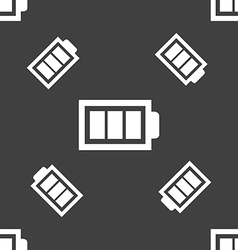 Battery fully charged sign icon electricity symbol vector