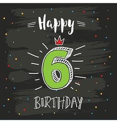 6th birthday vector