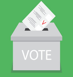 Ballot box design flat vote vector
