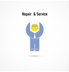 Maintenance and repair worker logo vector