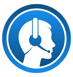 Headset contact icon vector