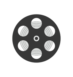 Film strip icon movie design graphic vector