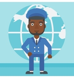 Businessman taking part in global business vector