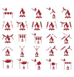 Set of barbecue iconss vector