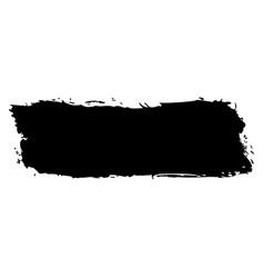 Black brushstroke paint vector