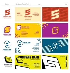 Business card templates with s logo vector