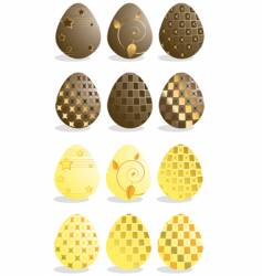 chocolate eggs vector image vector image