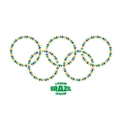 Circles with people icons using brazil flag colors vector