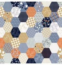Colorful patchwork seamless patterns vector