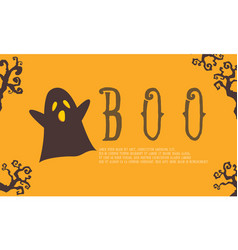 cute ghost background for halloween vector image vector image