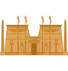Egiptian Temple vector image