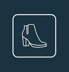 Female boots outline symbol premium quality vector