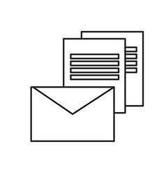 Figure electronical message online letter icon vector