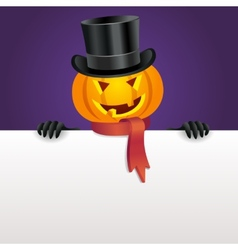Halloween invitation with pumpkin vector