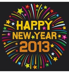 happy new year 2013 firework vector image