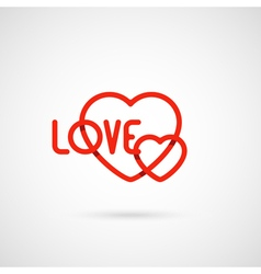 heart and love symbol vector image vector image