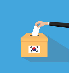 Korea election vote concept with vector