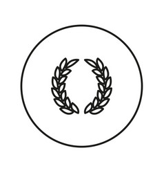 Laurel wreath victory icon vector